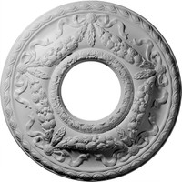"22 1/8""OD x 7 1/4""ID x 1 3/4""P Hurley Ceiling Medallion"