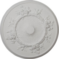 "27""OD x 1 1/8""P Flower Ceiling Medallion"