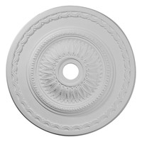 "29 1/2""OD x 3 5/8""ID x 1 5/8""P Sunflower Ceiling Medallion (Fits Canopies up to 5 5/8"")"