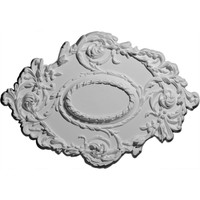 "30 3/8""W x 20 3/4""H x 1""P Kinsley Flowing Leaf Ceiling Medallion"
