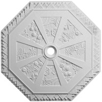 "29 1/8""OD x 2 1/4""ID x 1 1/8""P Spring Octagonal Ceiling Medallion (Fits Canopies up to 3"")"