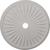 "33 1/8""OD x 3 1/2""ID x 1 3/8""P Leandros Ceiling Medallion (Fits Canopies up to 5"")"