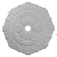 "33 1/4""OD x 3 5/8""ID x 1""P Scroll Medallion"