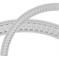 "47""OD x 40 1/2""ID x 3 1/4""W x 1 1/8""P Dentil and Bead Ceiling Ring (1/4 of complete circle)"