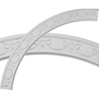 """63""""OD x 54 1/4""""ID x 4 3/8""""W x 3/4""""P Federal Ceiling Ring (1/4 of complete circle)"""