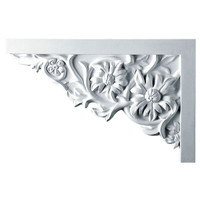 "11 3/4""W  x 7 7/8""H x  3/4""P Floral Large Stair Bracket, Left"
