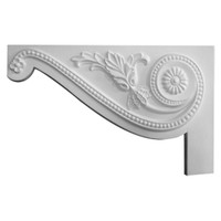 """11""""W x 7""""H x 5/8""""D Large Pearl Stair Bracket, Left"""
