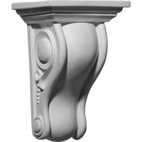 "6 5/8""W x 5 1/4""D x 10""H Holmdel Smooth Scroll Corbel"
