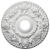 "18""OD x 3 1/2""ID x 1 1/2""P Rose Ceiling Medallion"