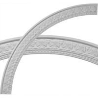 """71 1/4""""OD x 62 3/4""""ID x 4 1/4""""W x 1 3/8""""P Palmetto Ceiling Ring (1/4 of complete circle)"""