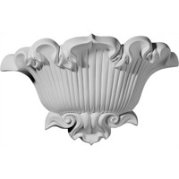"15""W x 4 5/8""D x 9 5/8""H, Shell Sconce"