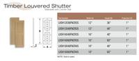 Fypon shutter___LVSH12X36FNCR3S____ 12X36X1 WOODGRAIN
