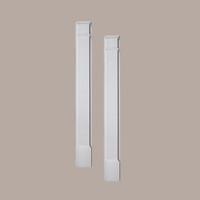 PIL10X120P____PILASTER PLAIN ADJ PLTH 120X10X3-1/4
