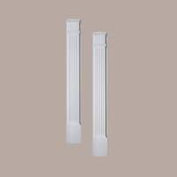 PIL5X90____PILASTER FLUTED MLD PLTH 90X5-1/4X1-5/8