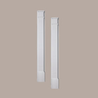 PIL6X120P____PILASTER PLAIN ADJ PLTH 120X6-1/4X2-1/2