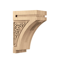 "CRV7020WO_9 1/2"" Medium Gaelic Corbel White Oak"