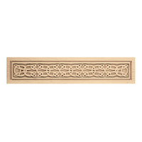 "CRV7072MA_21 1/2"" x 4 1/2"" Small Gaelic Onlay, Maple"
