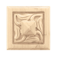 "CRV7078MA_3"" Sq Small Nouveau Rosette Maple"