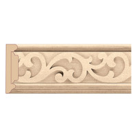 "MLD7024CH_3 1/2"" Panel Moulding w/ Baroque Insert Cherry"