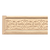 "MLD7028CH_3 1/2"" Panel Mould w/ Gaelic Insert, Cherry 8'"