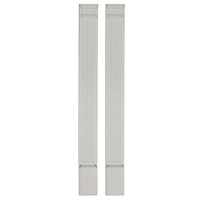 "5""W x 96""H x 2""D with 16"" Attached Plinth, Fluted Pilaster (each)"