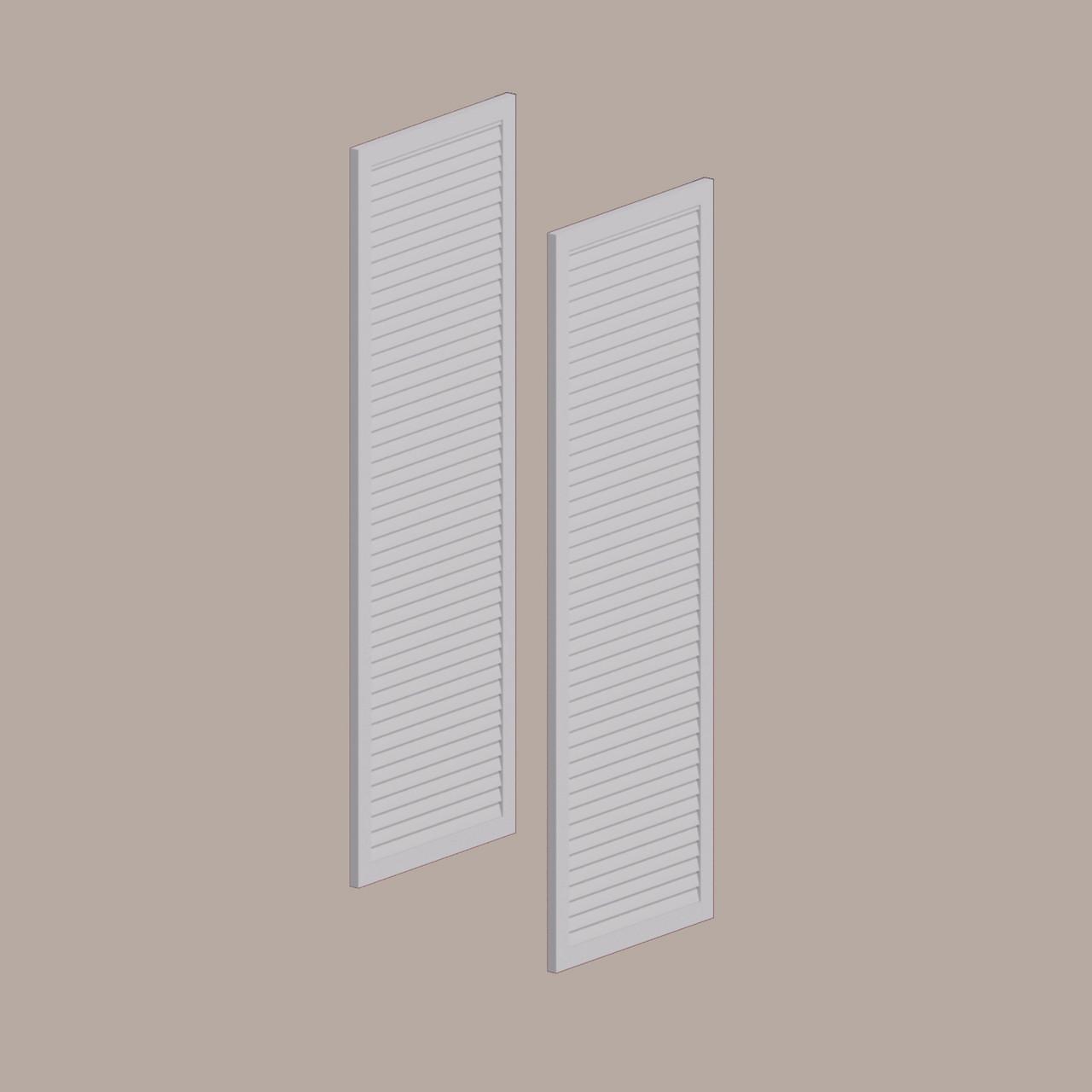 Fypon shutter___LVSH12X60FNB___X LOUVERED SHUTTER, 12 W X 60 H X 1 P FINE SLATS