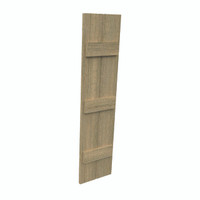 Fypon shutter___SH2P3BC12X53RS___SHUTTER 2 BOARD AND 3 BATTEN12X53X1-1/2 ROUGH SAWN WOOD GRAI