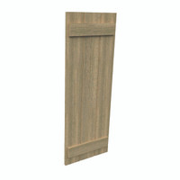 Fypon shutter___SH3PC18X37RS___SHUTTER 3 BOARD AND BATTEN18X37X1-1/2 ROUGH SAWN WOOD GRAIN