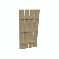 Fypon shutter___SH4P3B24X120RS___SHUTTER 4 PLANK 3 BATTEN24X120X1-1/2 ROUGH SAWN WOOD GRAIN