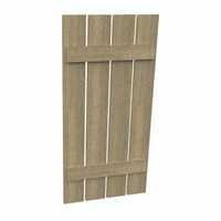 Fypon shutter___SH4PO24X92RS___SHUTTER 4 PLANK24X92X1-1/2 ROUGH SAWN WOOD GRAIN