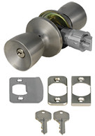 Mobile Home Entry Door Lockset Door Knob Stainless Steel