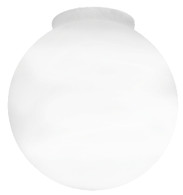 "6"" Globe Smooth White"