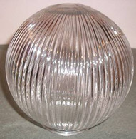 "6"" Globe Ribbed Clear Style"