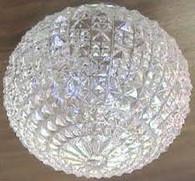 "6"" Globe Glass Crystal Cut Style"
