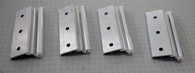Set of 4 Elixir Brand Storm Door Hinges (Mill Finish)