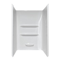 "34""x48""x69"" Fiberglass Shower Surround Wall Elite - White (Fits 3.5"" High 48"" Shower Pan)"