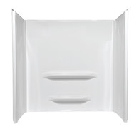 "Fiberglass Shower Surround Wall 48""x34""x53"" Elite - White (Fits 19"" High 48"" Shower Pan With SEAT)"