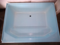 "Fiberglass Garden Bath Tub Size 41"" X 54"" White For Mobile Home With New Style Bench"