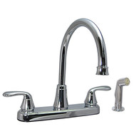 "8"" Kitchen Faucet Chrome High Rise Faucet with Spray Phoenix Brand"