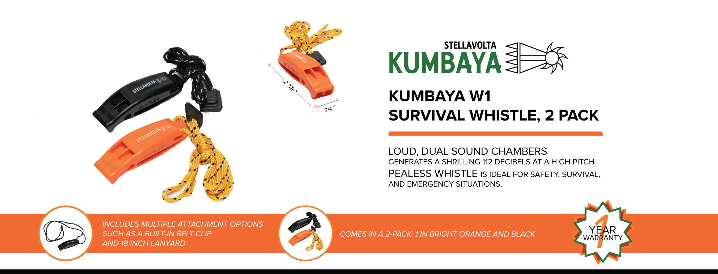 Kumbaya W1 Survival Whistle Ad
