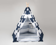 Stellavolta TP5P-BLS KIDS Teepee Large 5-Pole, Navy Blue Stripes