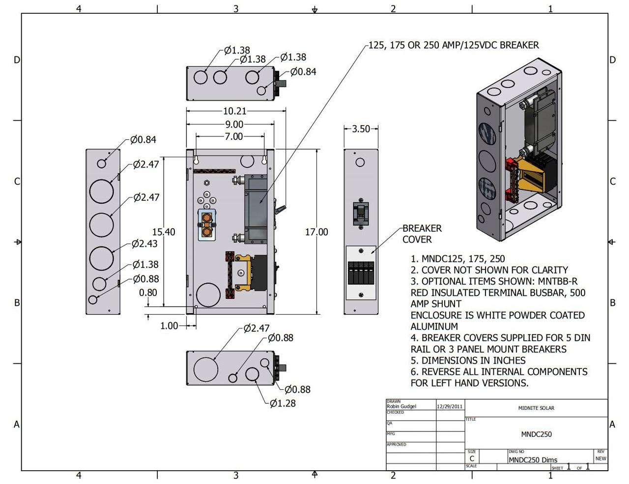 Midnite Solar MNDCPLUS Mini DC Disconnect
