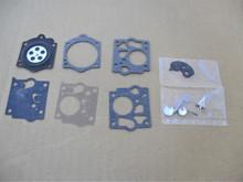 Carburetor Rebuild Kit for Jacobsen Sno Burst snowblower K1-SDC, K1SDC, K10-SDC, K10SDC snowthrower, snow blower thrower, Walbro, Made In USA