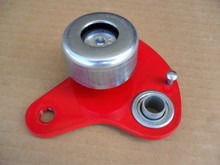 """Belt Idler Arm with Pulley for Craftsman and Mclane Reel Tiff Mower 1047D, 20"""" to 25"""" Cut Deadman Arm Assembly"""