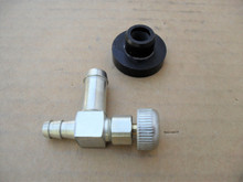 Gas Fuel Shut Off Valve and Rubber Bushing for Toro Timecutter, Titan, 104047, 466560, 46-6560, Made In USA