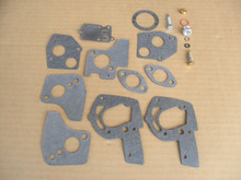 Carburetor Rebuild Kit for Briggs and Stratton, Mclane 3 HP to 5 HP 494624, 495606 Repair Overhaul &