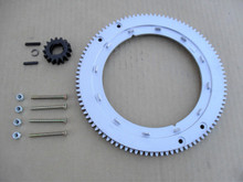 Flywheel Ring Gear Kit for Briggs and Stratton 392134, 399676, 696537 Aluminum Gear Replaces Plastic Gear &