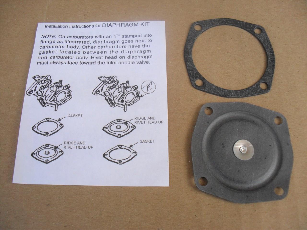 Carburetor Diaphragm Rebuild Kit for Tecumseh AV520, H30, LAV40, 1400, 1500  Jiffy