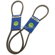 Auger Drive Belt for Ariens ST27LE, ST824E, ST927LE, ST1027LE, ST924DLE, ST1130DLE, ST824LET ST924LET, ST927LET, ST1027LET and ST1130LET, 07200431, Snowblower, snowthrower, snow blower thrower, set of 2 belts