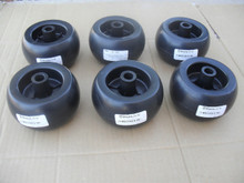 Deck Wheels for Gravely 00473600, roller wheel set of 6, Made In USA